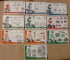 BUVARD & Blotting Paper :Lot De 10 Buvards De La Serie DMC :  Apprenez A Coudre Avec Les Fils DMC De 1 A 10 - Vestiario & Tessile