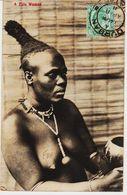 Afrique Du Sud De Durban , Femme Zoulou Seins Nus  Circulèe En 1911 TB - Afrique Du Sud