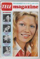 Télé Magazine Juin 1976 -  Karen Cheryl - Televisión