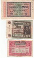 5786  -      LOT   REICHBANKNOTE - [ 3] 1918-1933 : Repubblica  Di Weimar