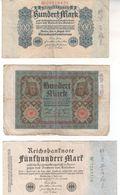 5787  -      LOT   REICHBANKNOTE - [ 3] 1918-1933 : Repubblica  Di Weimar