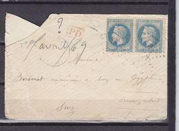 29 POUR SUEZ - Marcophilie (Lettres)