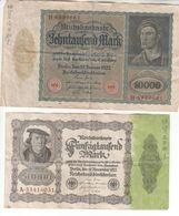 5788  -      LOT   REICHBANKNOTE - [ 3] 1918-1933 : Repubblica  Di Weimar