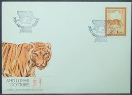 Macau - FDC 1986 Fauna Tiger Cat Of Prey Chinese New Year - Macau