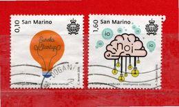 S.Marino ° 2016 -  L'INTELLIGENZA ARTIFICIALE. Unif. 2525-2528.  Usato - Saint-Marin