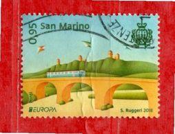 S.Marino ° 2018 -  EUROPA - PONTI. Unif. 2584.  Usato - Saint-Marin