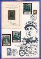 SHARJAH/FUJEIRA -  2 TIMBRES OBLITERES + 1 BLOC NEUF NON DENTELE + 1 TIMBRE NEUF NON DENTELE GENERAL DE GAULLE - De Gaulle (Général)