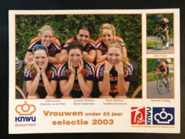 Vrouwen Onder 23 - Rabobank - 2003 - Carte / Card - Cyclists - Cyclisme - Ciclismo -wielrennen - Wielrennen