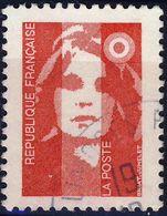 2806  Marianne Sans Valeur ROUGE OBLITERE  ANNEE 1993 - 1989-96 Bicentenial Marianne
