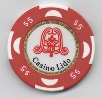 Jeton De Casino Lido Roumanie $5 - Casino