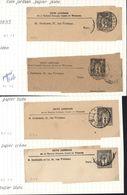 Entier 4 Bande De Journal Timbré Sur Commande TSC Sage 1ct Noir Cote Jordaan Banque Tous Oblitérés Paris Storch A9 - Entiers Postaux