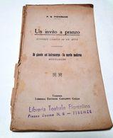 P. S. Piovesan - UN INVITO A PRANZO - Scherzo Comico In Un Atto -  ( Teatro ) - Books, Magazines, Comics