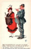 """CPA - Illustration MICH - """"Policier Et Une Dame"""" - Edition SID.Paris - Mich"""