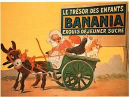 CPM - PUBLICITE BANANIA - Illustration G.MEUNIER (attelage D'âne) - Edition Clouet - Advertising