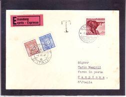 Lettre Express De Schaan 1947 Pour Campione - Taxée - Covers & Documents