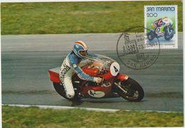 Carte-Maximum SAINT MARIN  N°Yvert 1029 (Grand Prix MOTOCYCLISTE) Obl Sp Ill 1981 - Lettres & Documents