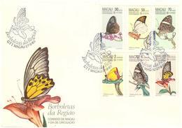 Scott 512-517   30a Euploea Midamus, 50a Hebomoia Glaucippe, 70a Lethe Confusa, 2P Heliophorus Epicles, 4P Euthali... - Macau