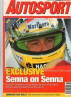 Autosport 1991 Ayrton Senna (portrait Of A Champion) Subaru Renault Moscow Nissan - Sports