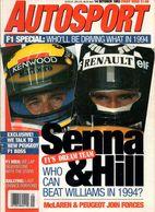 UK Autosport October 1993 Ayrton Senna Damon Hill Olivier Panis Porsche 911 Jean-Pierre Jabouille - 1950-Oggi