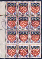 1352  BLOC 12 Blasons AMIENS  OBLITERE ANNEE 1962 - 1941-66 Escudos Y Blasones