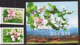 VIETNAM, 2018, MNH, FLOWERS, TREES, MOUNTAINS, 2v+S/SHEET - Altri