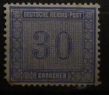 D. Reich 1872, Mi. 13, Innendienst 30 Gr, (*) Ohne Gummi Without Gum - Neufs