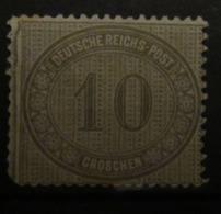 D. Reich 1872, Mi. 12, Innendienst 10 Gr, (*) Ohne Gummi Without Gum - Neufs