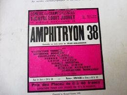 AMPHITRYON 38 , De Jean Giraudoux  (origine : LA PETITE ILLUSTRATION  ,1930); Au Dos---> Pub ANTICHAMBRE RENAISSANCE - Theatre