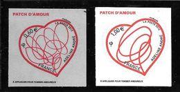 55- Autoadhésif , Coeur D'Adeline André N°648 Et 649 - Adhésifs (autocollants)