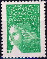 3535A Marianne Verte Sans Valeur RF ANNEE 2002 - 1997-04 Marianne Of July 14th