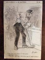 """Cpa-1921, Illustrateur,signée B.Gautier, Série Les Paysans,n° 60, """"aux Guichets De Gare"""", Humour, Coll Billaud 17 ROYAN - Illustratori & Fotografie"""