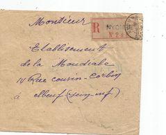 - CAMEROUN - NYOMBE - Càd S/TP N°74x2 +87x2 + 89x2 - RECOMMANDE - 1925 - Camerun (1915-1959)