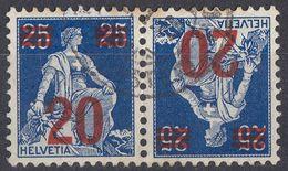 HELVETIA - SUISSE - SVIZZERA - 1921 - Yvert 184a Usato. - Svizzera