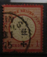 Dt. Reich 1872, Mi. 19: 1 Gr., Stempel 1875, Gepr. Signed Jäschke-Lantelme BPP, Value 5,- - Oblitérés