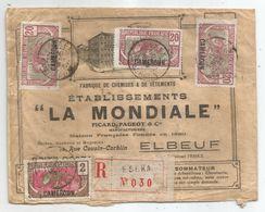 - CAMEROUN - ESEKA - Recommandée - TP N+84 + N° 85x2 + N°90 - Càd - 1925 - Camerun (1915-1959)