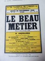 LE BEAU METIER, De Henri Clerc  ( Origine : LA PETITE ILLUSTRATION 1930) Dos -->dessin Publicitaire De Maurice Millière - Theatre
