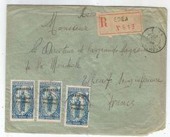 - CAMEROUN - EDEA - Recommandée - TP N+84 X 10 + N° 74 X 3 - Càd - 1925 - Camerun (1915-1959)