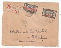 - GABON - LIBREVILLE - Recommandée - TP N°100 Et N° 101 - Càd  - 1925 - Gabon (1886-1936)