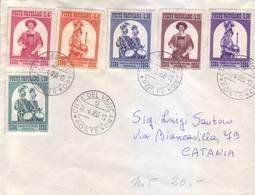 Vaticano 1956 - Guardia Svizzera, Serie Completa Su Lettera - Vatican