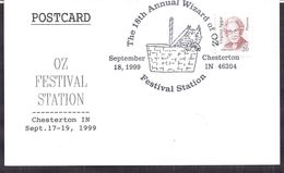 USA - Letter - 1999 - Chesterton IN - The 18th Annual Wizard Of Oz - Cygnus - Covers & Documents