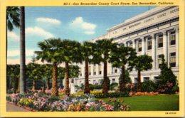 California San Bernardino County Court House Curteich - San Bernardino