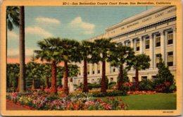 California San Bernardino County Court House 1955 Curteich - San Bernardino