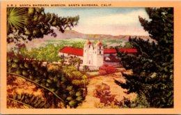 California Santa Barbara The Santa Barbara Mission 1955 - Santa Barbara