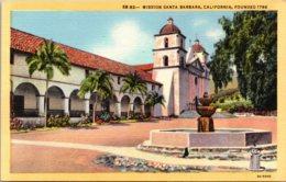 California Santa Barbara Mission Santa Barbara 1951 Curteich - Santa Barbara