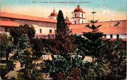 California Santa Barbara Garden Of The Santa Barbara Mission 1908 - Santa Barbara