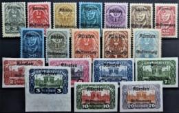 AUSTRIA 1920 - MNH/MLH - ANK 321-339 - Complete Set! - Kärnten Abstimmung - 1918-1945 1. Republik