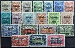 AUSTRIA 1921 - MLH - ANK 340-359 - Complete Set! - Hochwasser - 1918-1945 1ère République