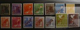🕊 Berlin 1949, Mi. 21-34 Rotaufdruck, * MH, Value 550,- - Unused Stamps