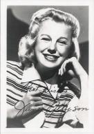 ARTIST - Smiling WOMAN American Actress JUNE ALLYSON With Autograph Dedicacee Reprint - Publicity Photo 13x9cm 1940' - Dédicacées