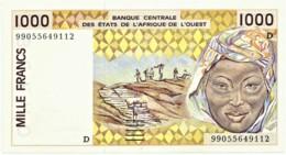 Mali - 1000 Francs - 1999 - Pick 411D.i - Sign. 29 - West African States - Mali